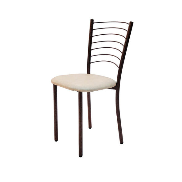 כיסא אוכל מרופד דמוי עור בציפוי מתכת במגוון צבעים לבחירה דגם אלפרדו, , large image number null