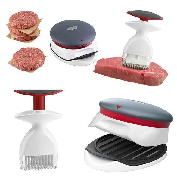 סט 2 מוצרים לחובבי הבשר   יוצר המבורגרים ומרכך בשר   Zyliss, , large image number null
