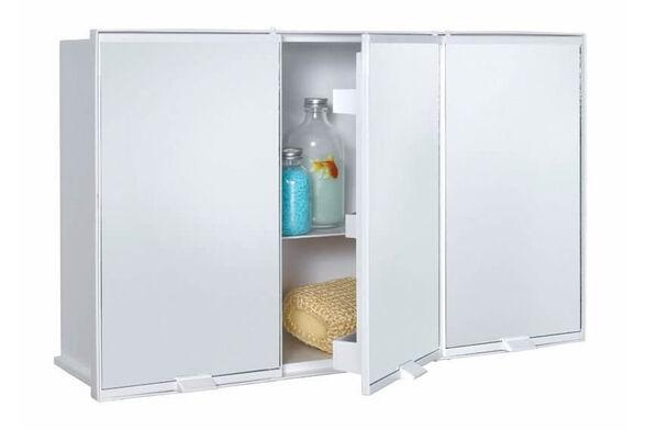 ארון אמבטיה גדול ומרווח לאחסון ולארגון נוח של מגוון מוצרי אמבט שונים | צבע לבן ., , large image number null