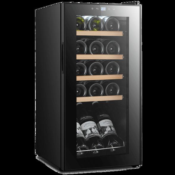 """מקרר יין לאחסון יינות 15 בקבוקים הפועל ע""""י מדחס שקט ואיכותי , בעל תצוגה דיגיטאלית לקביעת הטמפרטורה מבית Landers דגם JC43W , , large image number null"""