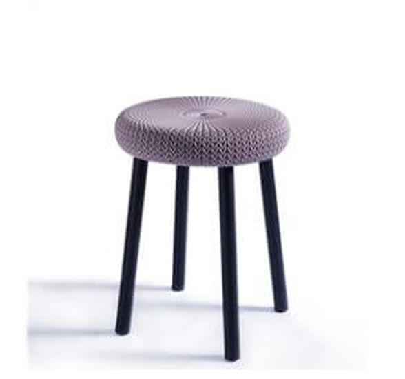 שרפרף כסא במראה סרוג שיקי | מתאים לשימוש בפנים ומחוץ לבית | צבע לבחירה ., , large image number null