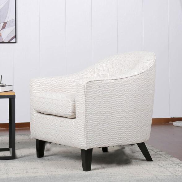 כורסא מעוצבת מרופדת בד עם רגלי עץ מלא HOME DECOR דגם איביזה , , large image number null