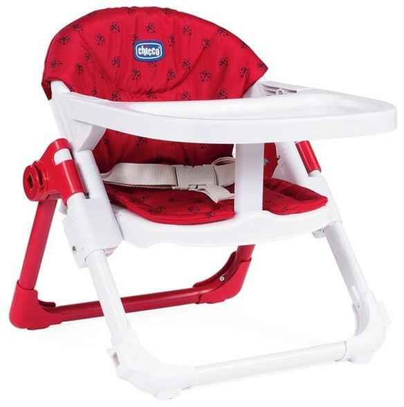 מושב הגבהה לתינוק 2 ב 1 צ'רי Chairy מתקפל עם מגש וריפוד - אדום Ladybug, , large image number null