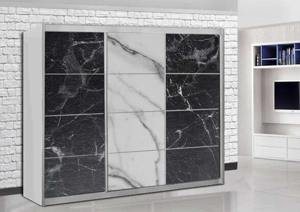 ארון הזזה 3 דלתות מבית House Design -ייצור ישראלי - דגם ארמון - פורמיקת שיש, , large image number null