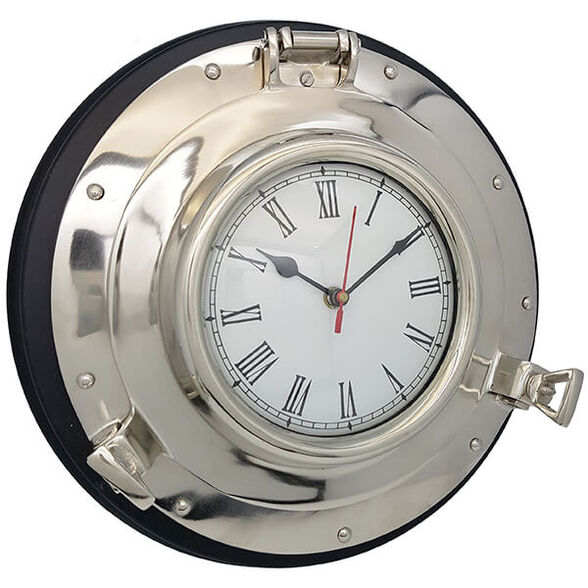 שעון נחושת בצורת הגה ספינה קטן, , large image number null