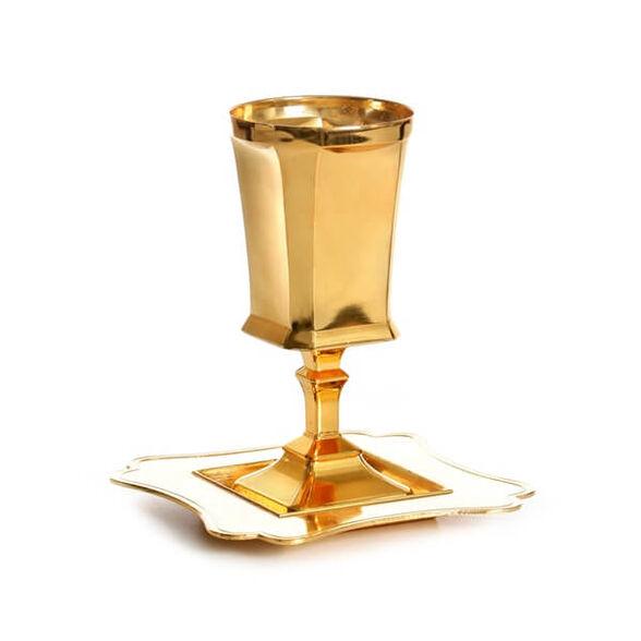 כוס קידוש מעוצבת  בציפוי זהב   חושן, , large image number null
