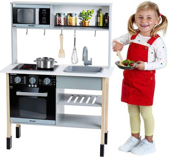 מטבח מעץ לילדים Miele עם אורות וצלילים, תנור, מיקרו וכיור  + 6 אביזרים, , large image number null