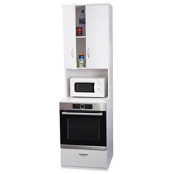 ארון נייד לתנור בילט אין ומיקרוגל בשילוב ארונית עליונה לאחסון, , large image number null