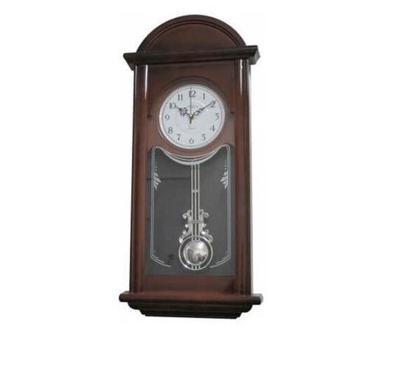 שעון קיר מטוטלת מרהיב בעל עיטורים עם צלצול כל שעה למעט הלילה | דגמים לבחירה_דגם 1, , large image number null