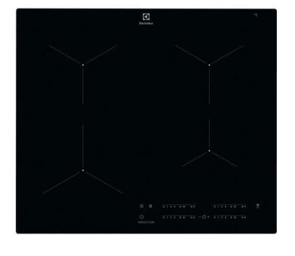 כיריים אינדוקציה בהספק 7350W, בעל פונקציית טורבו להאצת הבישול באמצעות חימום מהיר וחלון תצוגה על גבי הכיריים לגישה ישירה לחיישני הנגיעה בכל עת מבית ELECTROLUX דגם EIT614 , , large image number null