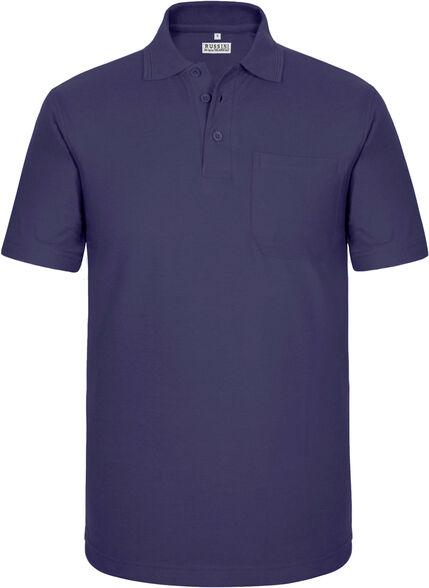 חולצת פולו שרוול קצר עם כיס בצבע סגול | מגוון מידות לבחירה, , large image number null