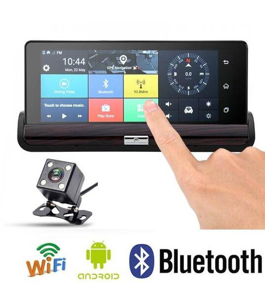 מערכת חכמה לרכב מבוססת מעבד עוצמתי  מערכת הפעלהANDROID  צג מגע ענק 7 אינץ' כוללת מצלמה קדמית + מצלמה אחורית+ GPS +דיבורית+מערכת מולטימדיה , , large image number null