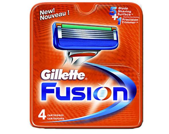מארז 16 סכיני ג'ילט FUSION לגילוח חלק, , large image number null