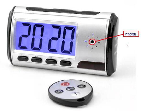 מצלמת ריגול מוסלקת בשעון מעורר+הקלטה בתנועה +שלט , , large image number null