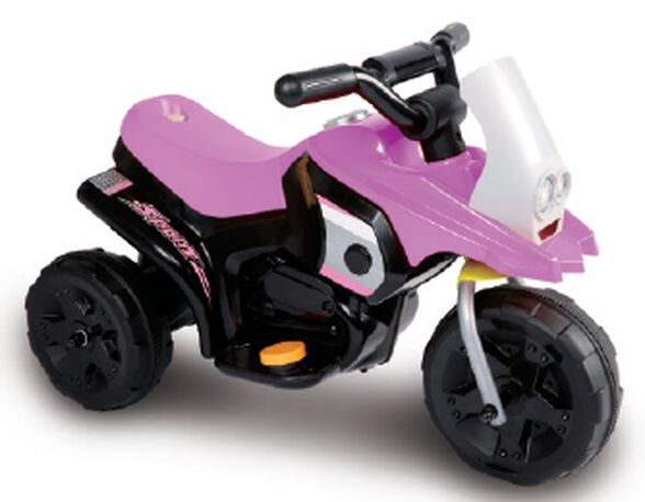 אופנוע ממונע Juke ג'וק 6V לילדים - ורוד/שחור, , large image number null