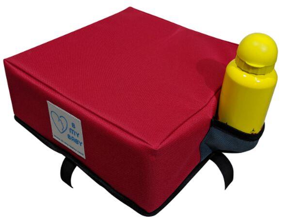 כרית הגבהה עם רצועות חיבור לתחתית הכיסא - אדום, , large image number null
