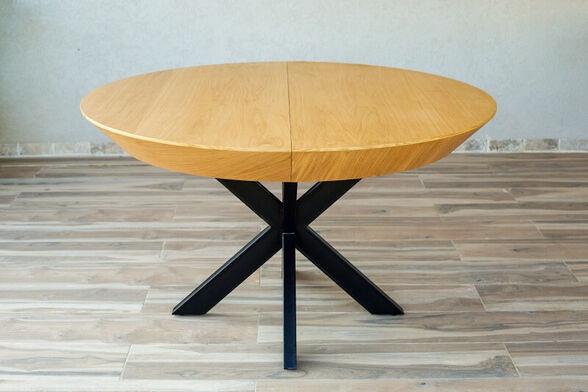 שולחן לפינת אוכל עגול נפתח מעץ דגם פירנצה מבית PandaStyle, , large image number null