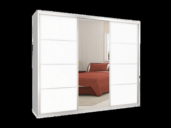 ארון הזזה 3 דלתות דגם MTC דלתות מראה + מלמין במבחר צבעים ניתן לשדרג לרוחב עד 300 ס''מ, , large image number null
