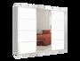 ארון הזזה 3 דלתות דגם MTC דלתות מראה + מלמין במבחר צבעים ניתן לשדרג לרוחב עד 300 ס''מ
