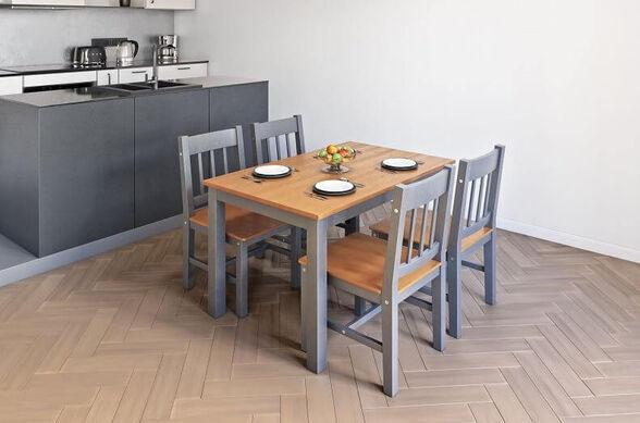 פינת אוכל + 4 כיסאות דגם MONICA מבית GAROX, , large image number null