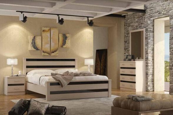 חדר שינה עשוי עץ מבית - House Design ייצור ישראלי - כחול לבן - דגם אורלנדו, , large image number null