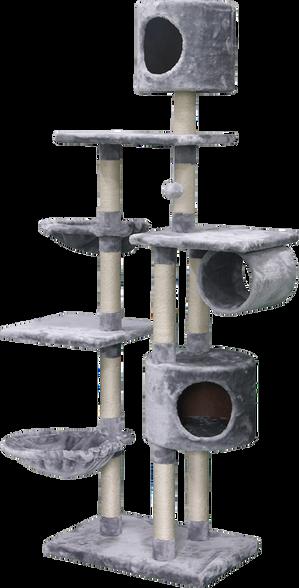 מתקן גירוד מפנק לחתול עם ארבע קומות בשילוב משטחי גירוד ורביצה מבית PETEX, , large image number null