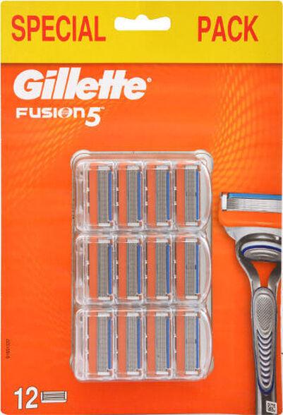 12 סכינים מסוג Gillette Fusion כוללים 5 להבים מדויקים - גילוח אחיד ויעיל, , large image number null
