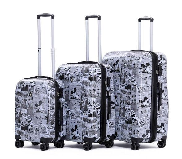 """סט מזוודות יוקרתי מבית  """"דיסני"""" דגם  MICKEY MOUSE PAPER   עשויה מ ABS בשילוב PC - חומרים חזקים , גמישים ועמידים במיוחד., , large image number null"""