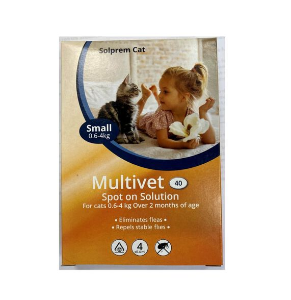 """מולטי ווט - אמפולה להדברת פרעושים וקרציות - לחתולים   בחירה עפ""""י משקל החתול, , large image number null"""
