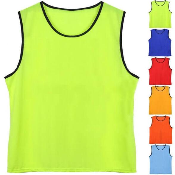 גופיות סימון רשת במידת בוגרים (L/XL) במגוון צבעים | בצבעים זוהרים לסימון קבוצות במשחקי כדורגל, , large image number null