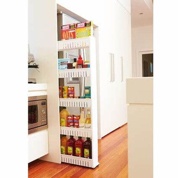 עגלת שירות ניידת למטבח 5 קומות לאחסון מוצרים בעלת גלגלים, נוחה לתפעול ולהרכבה, , large image number null