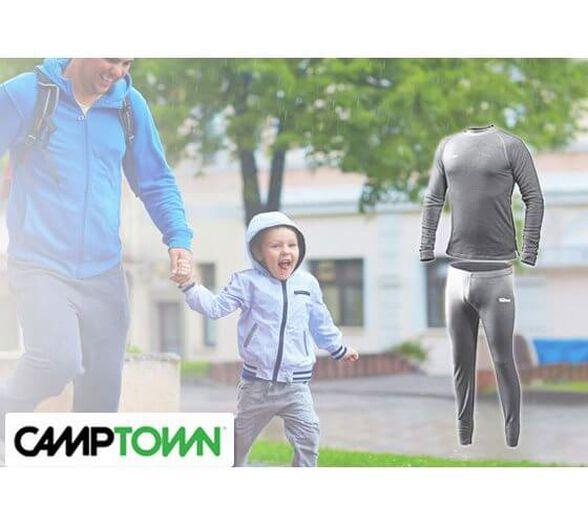 חליפה תרמית מיוחדת לילדים מבית CAMPTOWN דגם EVEREST כולל חולצה ומכנסיים לפעילות אקטיבית, טיולים ויום יום   חליפות נוספות במחיר מוזל   מידות המוצר לגלאי 5 - 4, , large image number null