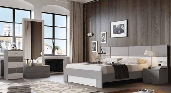חדר שינה עשוי עץ - House Design -ייצור ישראלי - כחול לבן - דגם טוליפ, , large image number null