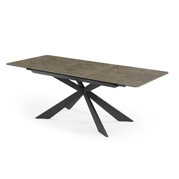 שולחן אוכל קרמיקה מפואר באורך 1.6 מ' נפתח ל- 2.1 מ' עם רגלי מתכת HOME DECOR דגם מלגה , , large image number null