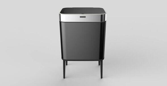 פח אשפה אוטומטי בעיצוב חדשני כולל רגליים   75 ליטר עם חיישן אלקטרוני   במבחר צבעים   SFREE, , large image number null