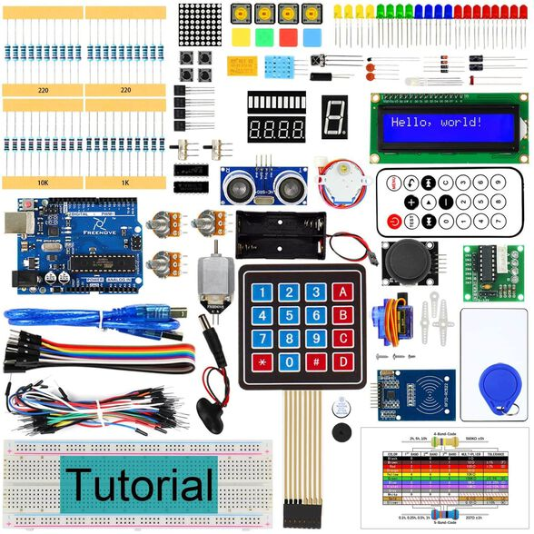 ערכת ארדואינו גדולה עם הרחבות למתחילים ומתקדמים Arduino UNO R3 Ultimate Starter Kit, , large image number null