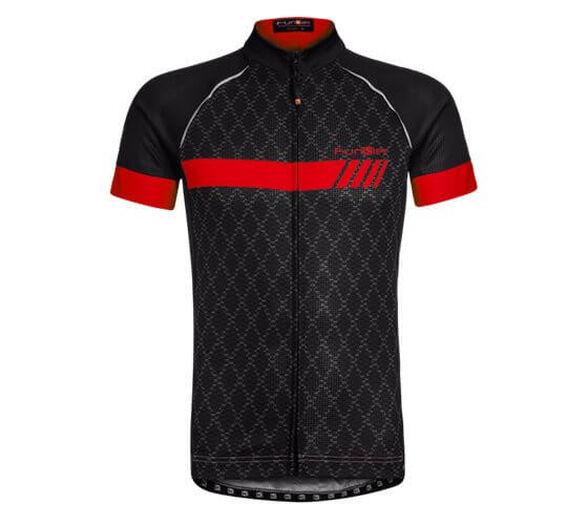 חולצת גברים סובלימציה שרוול קצר   דגם J798_שחור אדום - S, , large image number null