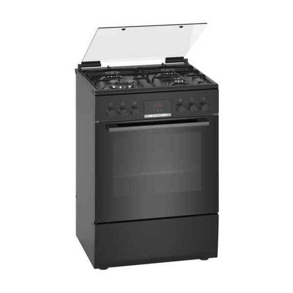 תנור משולב כיריים עם טורבו אקטיבי , בעל צג LCD ברור ונוח ולשימוש וציפוי מיוחד בגב ודפנות התנור סופח ומפרק שומנים מבית BOSCH דגם HXR39IH61Y  , , large image number null