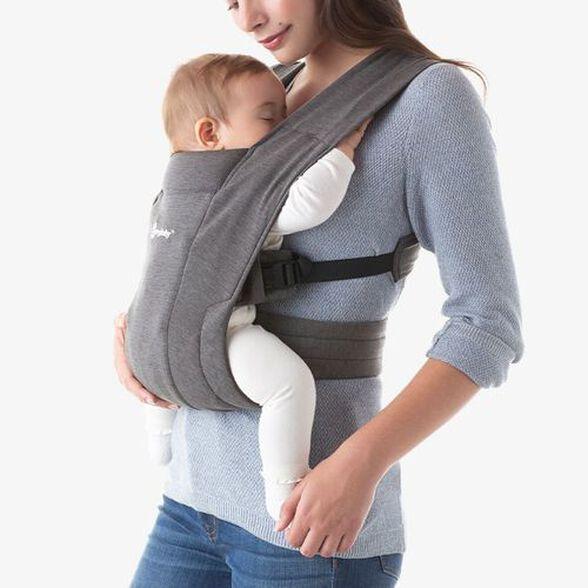 מנשא בד לתינוק אמברייס Embrace עם 3 תנוחות נשיאה - אפור, , large image number null