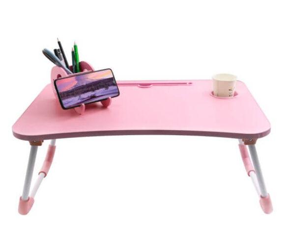 שולחן מתקפל למחשב נייד - ורוד , , large image number null