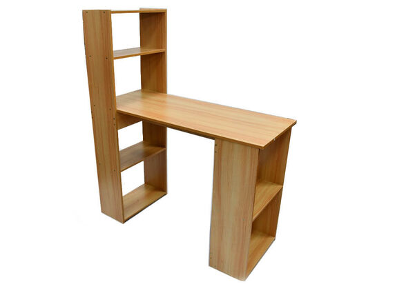שולחן מחשב מפואר כולל ספרייה MSH-1-38 מעץ מבית ROSSO ITALY רוחב 1 מטר, , large image number null