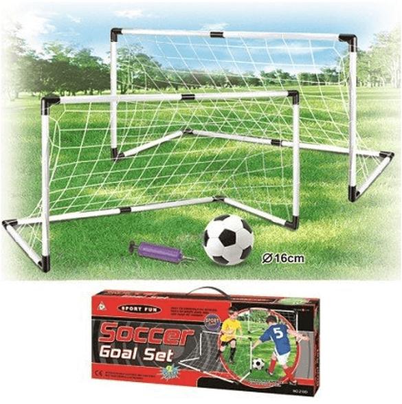זוג שערי כדורגל 1.20 מטר כולל כדור כדורגל ומשאבה לניפוח - מתנה, , large image number null