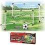 זוג שערי כדורגל 1.20 מטר כולל כדור כדורגל ומשאבה לניפוח - מתנה