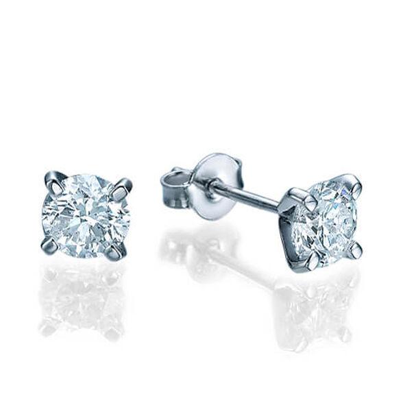 עגילים יהלומים צמודים לאוזן 0.40 קראט, , large image number null