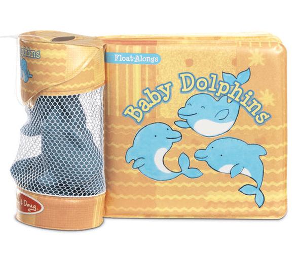 מליסה ודאג ספר אמבטיה ו – 3 צעצועי דולפין משפריצים דגם 31201, , large image number null
