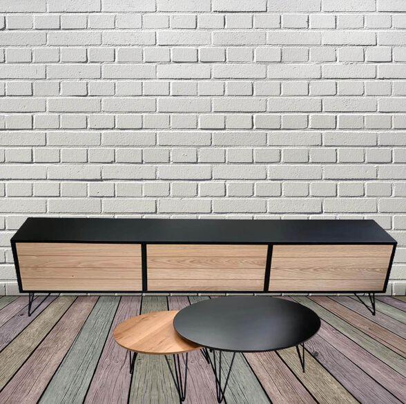 מזנון וזוג שולחנות לסלון דגם רומא מבית Design רהיטי מעצבים, , large image number null
