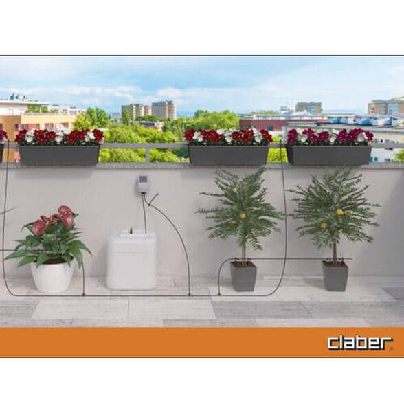 מערכת השקייה סולארית למרפסת ל- 20 עציצים CLABER דגם Aqua-Magic System, , large image number null