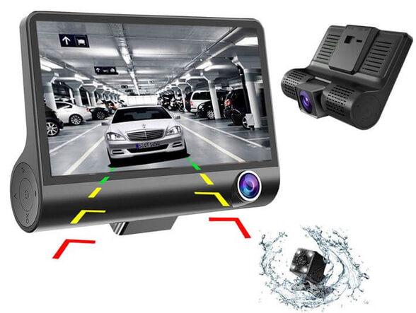 מצלמת דרך לרכב בעלת 3 עדשות צילום לצילום היקפי  <br> חיישן תנועה ורגישות G-SENSOR   זווית צילום רחבה במיוחד בעלת °170 , , large image number null