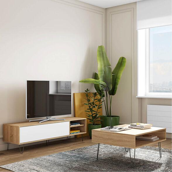 סט AERO כולל שולחן סלון ומזנון טלוויזיה תוצרת צרפת מבית BRADEX, , large image number null