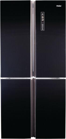 מקרר האייר 4 דלתות בנפח 547 ליטר מדחס INVERTER  דירוג אנרגטי A בגימור זכוכית שחורה דגם HRF4556FB  , , large image number null
